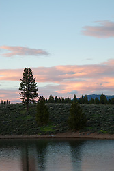 """Prosser Reservoir Sunset 1"" - This sunset was photographed at Prosser Reservoir in Truckee, CA."
