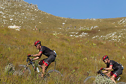 George Hincapie and Cadel Evans during stage 1 of the 2017 Absa Cape Epic Mountain Bike stage race held from Hermanus High School in Hermanus, South Africa on the 20th March 2017<br /> <br /> Photo by Greg Beadle/Cape Epic/SPORTZPICS<br /> <br /> PLEASE ENSURE THE APPROPRIATE CREDIT IS GIVEN TO THE PHOTOGRAPHER AND SPORTZPICS ALONG WITH THE ABSA CAPE EPIC<br /> <br /> ace2016