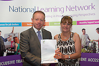 Anne Johnston who received a FETAC level 4 Certificate in Horticulture Science from Minister of State for Training & Skills at the department of Education and Science Ciaran Cannon TD at the National Learning Network, Galway Certification Ceremony at the Menlo Park Hotel. Photo:Andrew Downes.