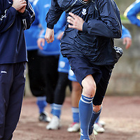 St Johnstone Training...26.01.07<br />Kevin James working hard during training.<br />see story by Gordon Bannerman Tel: 01738 553978 or 07729 865788<br />Picture by Graeme Hart.<br />Copyright Perthshire Picture Agency<br />Tel: 01738 623350  Mobile: 07990 594431