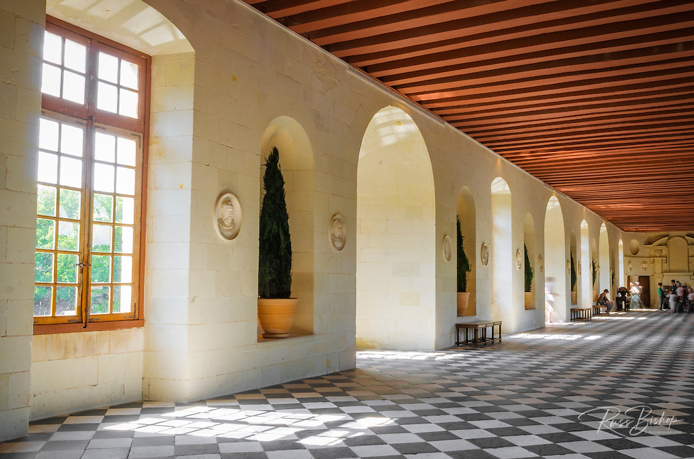 The Gallery at Chateau de Chenonceau, Chenonceaux, Loire Valley, France
