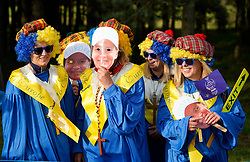 Solheim Cup 2019 at Centenary Course at Gleneagles in Scotland, UK. Team Europe fans in fancy dress on Friday afternoon.