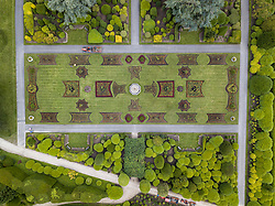 © Licensed to London News Pictures. 21/06/19 The gardens at Brodsworth Hall in South Yorkshire have been replanted using over 24,000 plants. The Italianate inspired gardens originally designed by Samuel Taylor in 1860 are replanted twice a year in June and October in a task that takes a team of 30 staff and volunteer gardeners around 2 weeks to complete. Picture Scott Merrylees/LNP