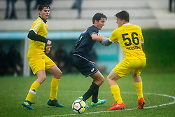 Dominic Thiem of 1st TFC, Aljaz Bedene of Fantazisti and Sam Weissborn of 1st TFC during friendly football match between NK Fantazisti (SLO) and 1st TFC - First Tennis & Football Club (AUT) presented by professional and former tennis players, on November 25, 2017 in Nacionalni nogometni center Brdo pri Kranju, Slovenia. Photo by Vid Ponikvar / Sportida