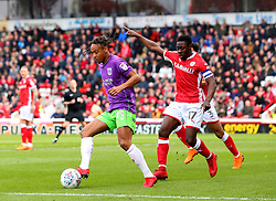 Bobby Reid of Bristol City takes on Andy Yiadom of Barnsley - Mandatory by-line: Robbie Stephenson/JMP - 30/03/2018 - FOOTBALL - Oakwell Stadium - Barnsley, England - Barnsley v Bristol City - Sky Bet Championship