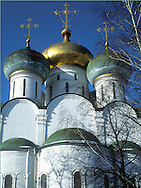 The Assumption Cathedral in the<br /> Novodevichy Monastery<br /> Moscow, Russia