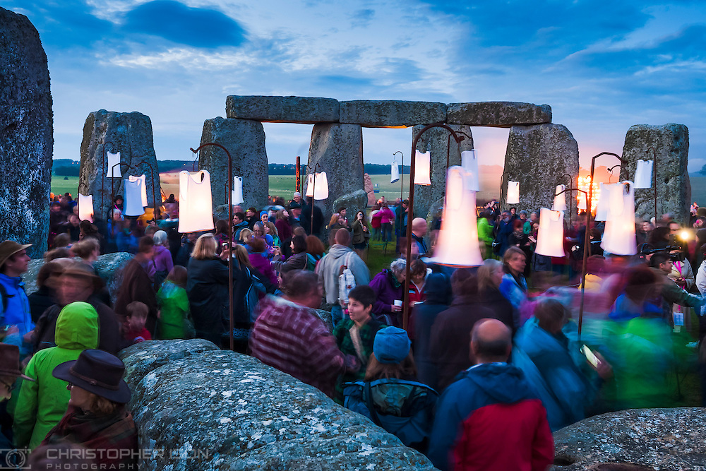 Fires light up the ancient stones at Stonehenge near Salisbury, Wiltshire as French artists Compagnie Carabosse present Fire Garden for the Salisbury International Arts Festival, part of the London 2012 Festival.