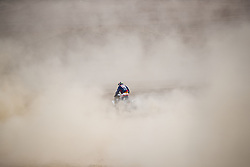 AREQUIPA, Jan. 11, 2019  French rider Alexandre Giroud competes during the 4th stage of the 2019 Dakar Rally Race, near La Joya, Arequipa province, Peru, on Jan. 10, 2019. Alexandre Giroud finished the 4th stage with 5 hours 1 minute and 42 seconds. (Credit Image: © Xinhua via ZUMA Wire)