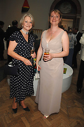Left to right, BRIGID MARTINEAU and LIZ PROCTER at a gala dinner for the Theatre Royal Bury St.Edmunds to celebrate the near completion of the restoration of the Grade 1 listed theatre, held at the Royal Academy, Piccadilly, London on 9th July 2007.<br /><br />NON EXCLUSIVE - WORLD RIGHTS
