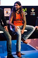Singer Leo Jimenez during the presentation of the new season of La Liga Endesa 2016-2017 in Madrid. September 20, 2016. (ALTERPHOTOS/Borja B.Hojas)