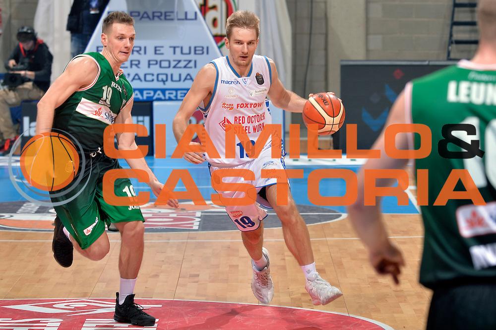 Vaidas Kariniauskas<br /> Red October Pallacanestro Cantu - Sidigas Scandone Avellino<br /> Lega Basket Serie A 2016/2017<br /> Desio, 12/12/2016<br /> Foto Ciamillo-Castoria