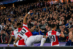 17-10-2017 NED, UEFA CL, Feyenoord - FC Shakhtar Donetsk, Rotterdam<br /> UEFA Champions League Round of 16, 3rd Leg match between Feyenoord vs. Donetsk at the stadion DE Kuip in Rotterdam / Steven Berghuis #19 scoort de 1-0