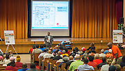 Community meeting to discuss construction pronect at Yates High School , October 1, 2015.
