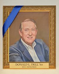 Blue Leadership Ball 2011, Yale University Athletics. Award Honoree Donald L. Dell '60 Portrait hanging in the Kiphuth Trophy Room, Payne Whitney Gymnasium.