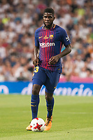 FC Barcelona's Samuel Umtiti during Supercup of Spain 2nd match at Santiago Bernabeu Stadium in Madrid, Spain August 16, 2017. (ALTERPHOTOS/Borja B.Hojas)
