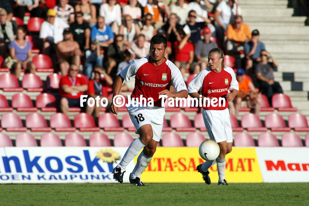 12.07.2006, Anjalankoski, Finland..UEFA Champions League, 1st qualifiqying round, 1st leg match..Myllykosken Pallo-47 v The New Saints (Wales).Hugo Miranda - MyPa.©Juha Tamminen.....ARK:k