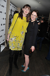 Left to right, AMANDA BERRY and EILIDH MACASKILL editor of InStyle at the InStyle Best of British Talent Event in association with Lancôme and Avenue 32 held at The Rooftop Restaurant, Shoreditch House, Ebor Street, London E1 on 30th January 2013.