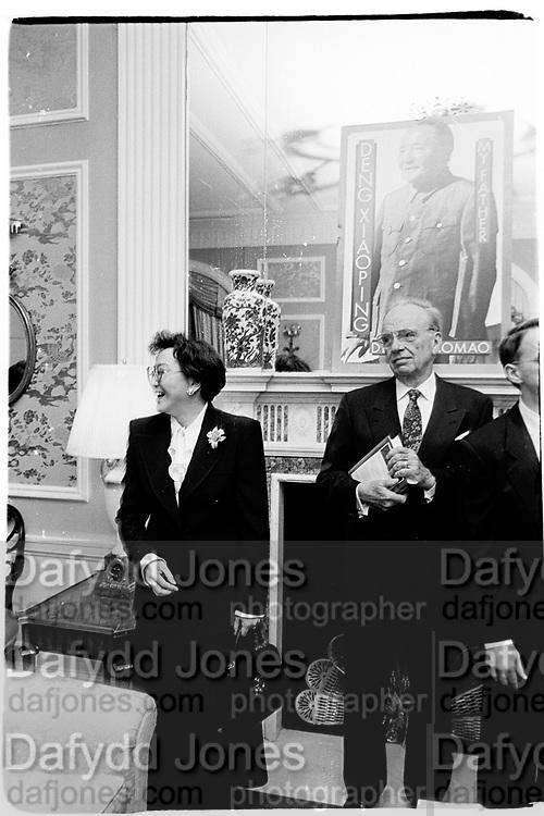 Rupert Murdoch and Madame Deng Maomao at Basic books party for Madame Deng Maomao, Waldorf Astoria, Tower, 15th February New York 1995© Copyright Photograph by Dafydd Jones 66 Stockwell Park Rd. London SW9 0DA Tel 020 7733 0108 www.dafjones.com