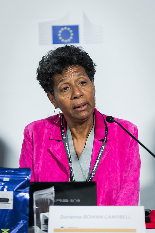20160616 - Brussels , Belgium - 2016 June 16th - European Development Days - Supporting local and sustainable food production in African , Caribbean and Pacific countries - Dorienne Rowan-Campbell , Chair and Policy Director , Jamaica Organic Movement and Farmer © European Union