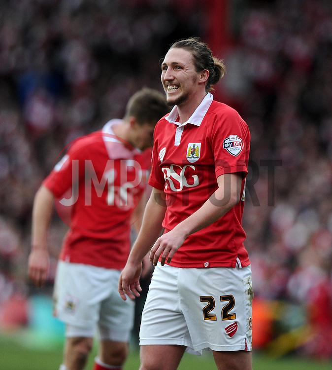 Bristol City's Luke Ayling  - Photo mandatory by-line: Joe Meredith/JMP - Mobile: 07966 386802 - 25/01/2015 - SPORT - Football - Bristol - Ashton Gate - Bristol City v West Ham United - FA Cup Fourth Round