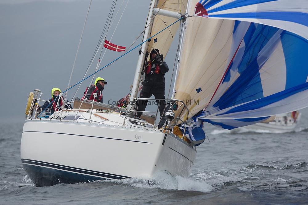 Silvers Marine Scottish Series 2017<br /> Tarbert Loch Fyne - Sailing<br /> <br /> 2160C, Cara of Kip, Graham Goudie, Fairlie Yacht Club, Moody 336<br /> <br /> Credit: Marc Turner / CCC