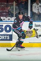 KELOWNA, BC - NOVEMBER 03:  Lassi Thomson #2 of the Kelowna Rockets skates with the puck against the Brandon Wheat Kings at Prospera Place on November 3, 2018 in Kelowna, Canada. (Photo by Marissa Baecker/Getty Images) ***Local Caption***Lassi Thomson;