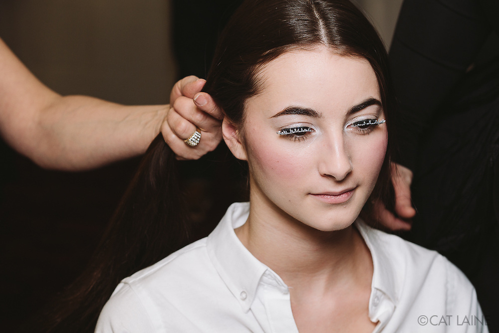 PROVIDENCE, RI - FEB 13: Ahna Bailey backstage prior to the Jess Abernethy show as part of StyleWeek NorthEast on February 13, 2015 in Providence, Rhode Island. (Photo by Cat Laine)