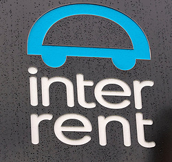 A general view of an InterRent vehicle hire sign at their depot near Heathrow Airport, West London, as the car hire firm has recorded the lowest customer satisfaction rating of any operator in seven years, in an annual survey by the consumer group Which? Travel magazine.