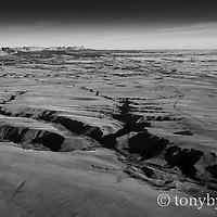 deep canyon blackfeet indian reservation aerial photograph conservation photography - blackfeet oil