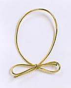 Festive golden rubber band