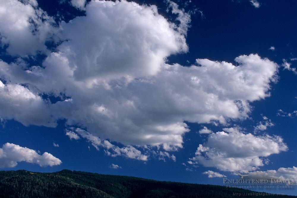 Cumulus clouds over the Teton Range. Grand Teton National Park, WYOMING