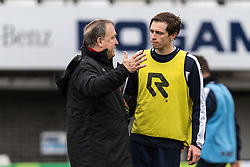 (L-R) coach Dick Advocaat of Sparta Rotterdam, Craig Goodwin of Sparta Rotterdam during the training session at the Sparta stadium the Kasteel on January 02, 2018 in Rotterdam, The Netherlands