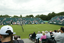 LIVERPOOL, ENGLAND - WEDNESDAY JUNE 9 2004: Empty seats during the first day at the Liverpool International Tennis Tournament at Claderstones Park. (Photo by David Rawcliffe/Propaganda)