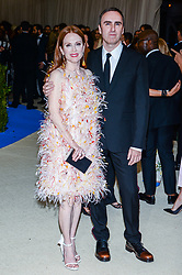Julianne Moore and Raf Simons arriving at The Metropolitan Museum of Art Costume Institute Benefit celebrating the opening of Rei Kawakubo / Comme des Garcons : Art of the In-Between held at The Metropolitan Museum of Art  in New York, NY, on May 1, 2017. (Photo by Anthony Behar) *** Please Use Credit from Credit Field ***