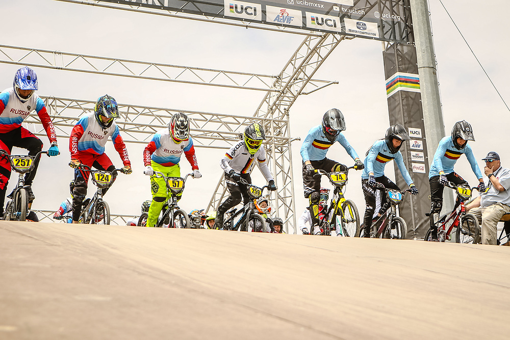 2018 UCI World Championships<br /> Baku, Azerbaijan<br /> 14 Boys #72 (MELIS Jools) BEL Meybo Zulu<br /> 14 Girls #33 (GOMMERS Aiko) BEL Daylight<br /> 14 Boys #74 (WILLEMS Thomas) BEL<br /> 13 Boys #57 (GRECHANYI Denis) RUS<br /> 14 Boys #124 (VOROBYEV Ivan) RUS<br /> 16 Boys #257 (MALYUSHKIN Oleg) RUS