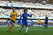Chelsea midfielder Willian (22) during the Premier League match between Chelsea and Wolverhampton Wanderers at Stamford Bridge, London, England on 10 March 2019.
