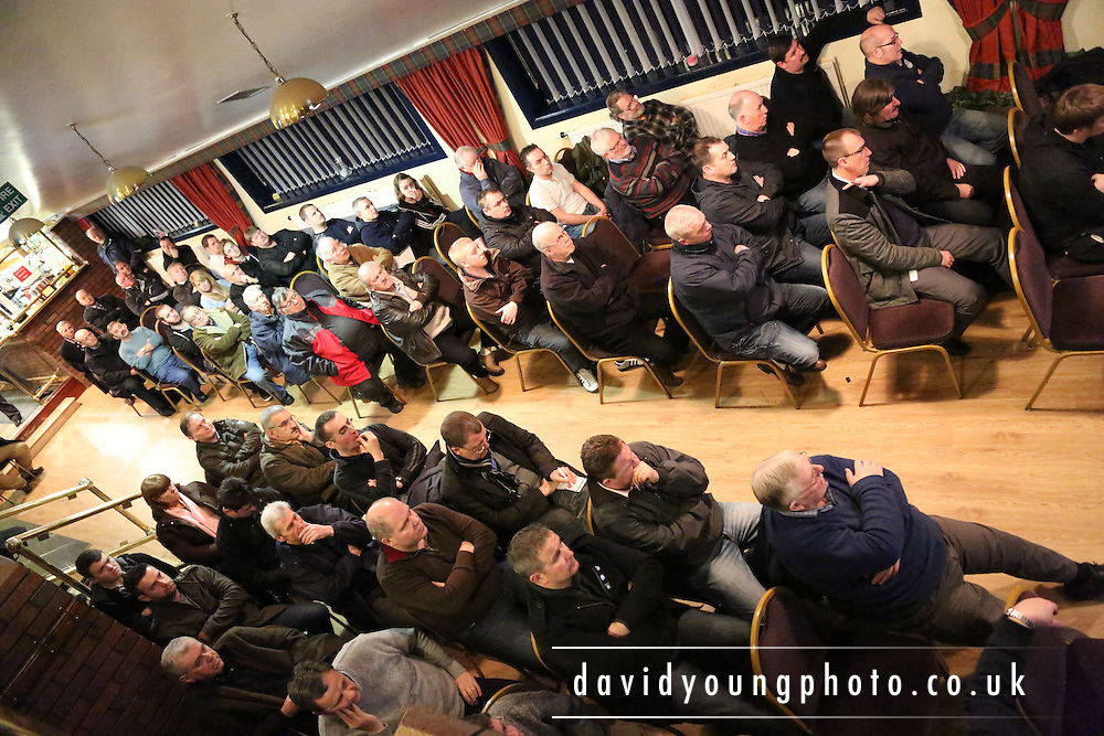 Fans who attended a Question and Answer session on League reconstruction in the Andy Penman Lounge at Dundee FC's Dens Park.. - © David Young - www.davidyoungphoto.co.uk - email: davidyoungphoto@gmail.com