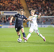 Greg Stewart goes past Gary Mackay Steven - Dundee v Celtic - SPFL Premiership at Dens Park<br /> <br /> <br />  - &copy; David Young - www.davidyoungphoto.co.uk - email: davidyoungphoto@gmail.com