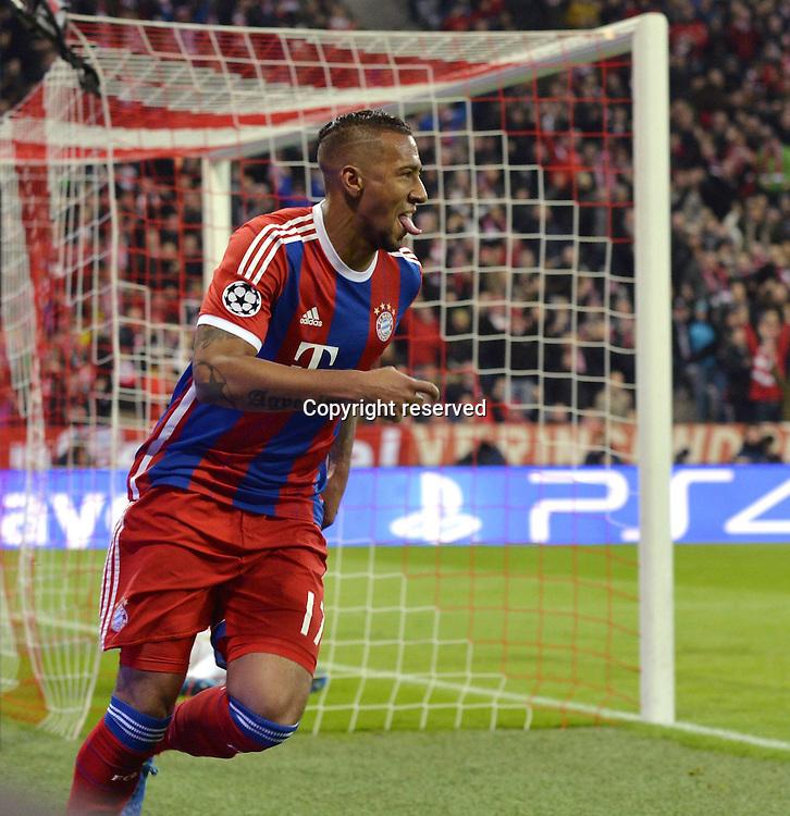 11.03.2015. Allianz Stadium, Munich, Germany. UEFA Champions League football. Bayern Munich versus Shakhtar Donetsk.  Goal scorer Jerome Boateng (Bayern Munich).  The game ended 7-0 to Bayern over Shakhtar.