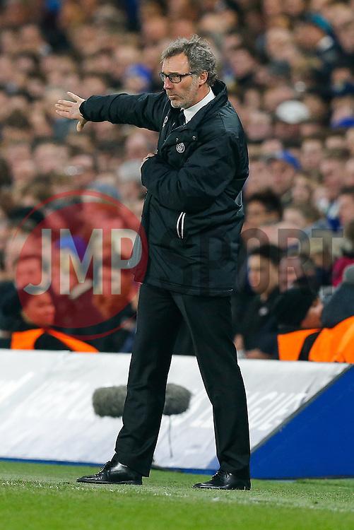 Paris Saint-Germain Manager Laurent Blanc - Photo mandatory by-line: Rogan Thomson/JMP - 07966 386802 - 11/03/2015 - SPORT - FOOTBALL - London, England - Stamford Bridge - Chelsea v Paris Saint-Germain - UEFA Champions League Round of 16 Second Leg.