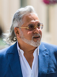 London, June 13th 2017. VIJAY MALLYA, co-owner of F1 team Sahara Force India and chairman of the UB Group, who is wanted in India on fraud allegations involving money laundering and high value bank demands attends Westminster Magistrates Court in London for a case management hearing ahead of his extradition trial.