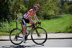 Megan Guarnier (USA) in the break at La Flèche Wallonne Femmes 2018, a 118.5 km road race starting and finishing in Huy on April 18, 2018. Photo by Sean Robinson/Velofocus.com
