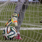 Goalkeeper Eduardo, Portugal, picks the ball out of the net after a disallowed Mexican goal during the Portugal V Mexico International Friendly match in preparation for the 2014 FIFA World Cup in Brazil. Gillette Stadium, Boston (Foxborough), Massachusetts, USA. 6th June 2014. Photo Tim Clayton
