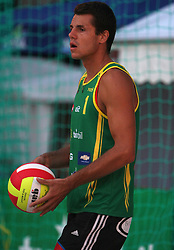 Gregor Perhaj (Boznar & partner - EKOL Team) at qualifications for 14th National Championship of Slovenia in Beach Volleyball and also 4th tournament of series TUSMOBIL LG presented by Nestea, on July 25, 2008, in Kranj, Slovenija. (Photo by Vid Ponikvar / Sportal Images)/ Sportida)