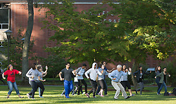 Sid Olufs' writing class that incorporates Tai-Chi at PLU on Tuesday, Sept. 29, 2015. (Photo/John Froschauer)