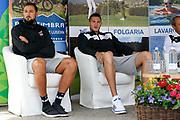 Marco Belinelli, Danilo Gallinari, <br /> Raduno Nazionale Maschile Senior<br /> Raduno Giorno 6<br /> Conferenza Stampa<br /> Folgaria 27/07/2017<br /> Foto Ciamillo-Castoria/ A.Gilardi