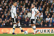 Derby County midfielder Tom Ince (10)  and Derby County midfielder Jacob Butterfield (18) line up a free kick during the EFL Sky Bet Championship match between Derby County and Sheffield Wednesday at the iPro Stadium, Derby, England on 29 October 2016. Photo by Jon Hobley.