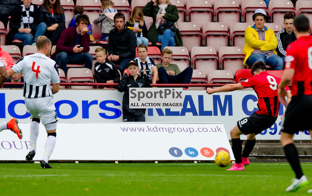Dunfermline Athletic v Airdrieonians SPFL League One Season 2015/16 East End Park 26 September 2015<br /> George Hunter opens the scoring <br /> CRAIG BROWN | sportPix.org.uk