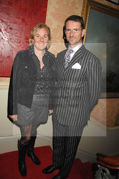 COUNT & COUNTESS MANFREDIE DELLA GHERARDESCA at the engagement party of Vanessa Neumann and William Cash held at 16 Westbourne Terrace, London W2 on 15th April 2008.<br />