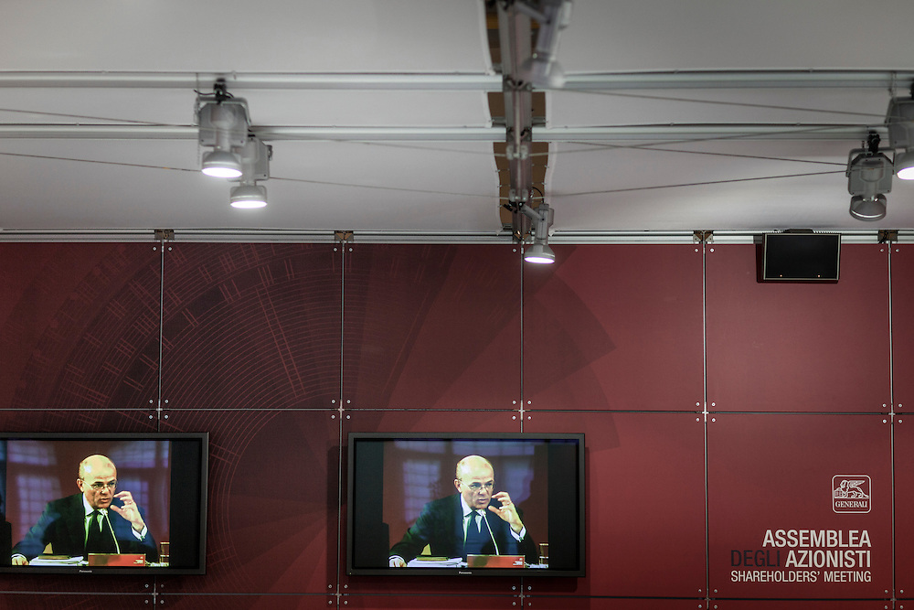 """Stazione marittima, Trieste, 30/04/2013. Assemblea degli Azionisti """"Assicurazioni Generali"""". Shareholders' Meeting, """"Generali Insurance"""""""